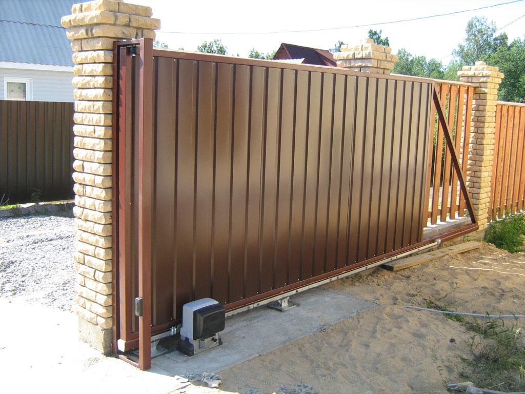 ворота откатные для дач