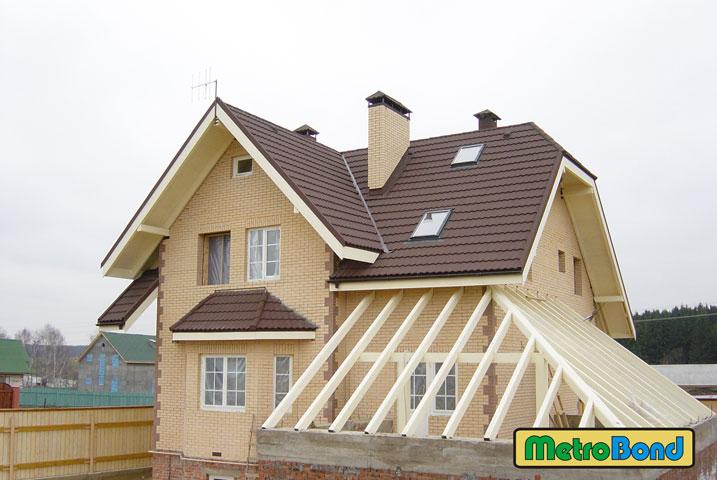 Крыша пристроя к дому