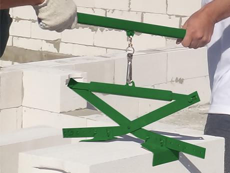 Захват для переноски газобетонных блоков своими руками