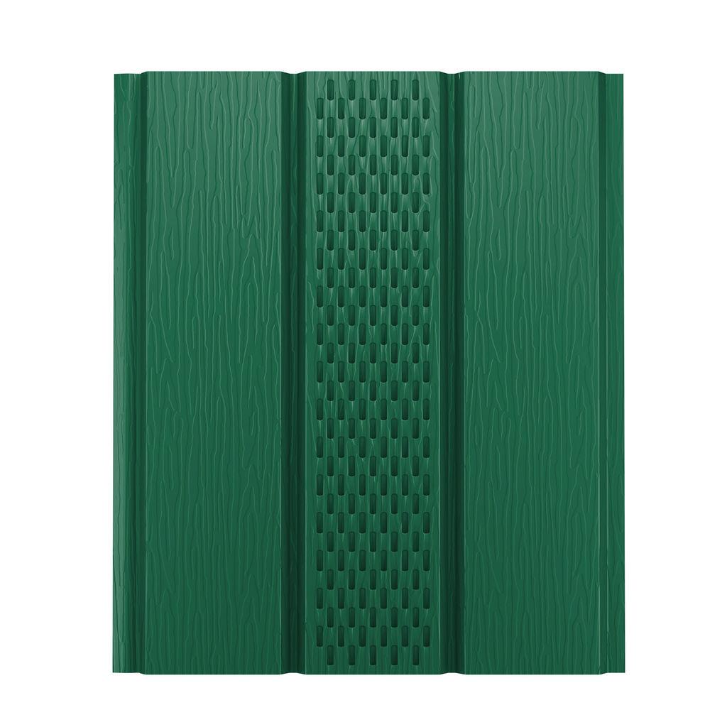 Софит металлический с центральной перфорацией зеленый 6005