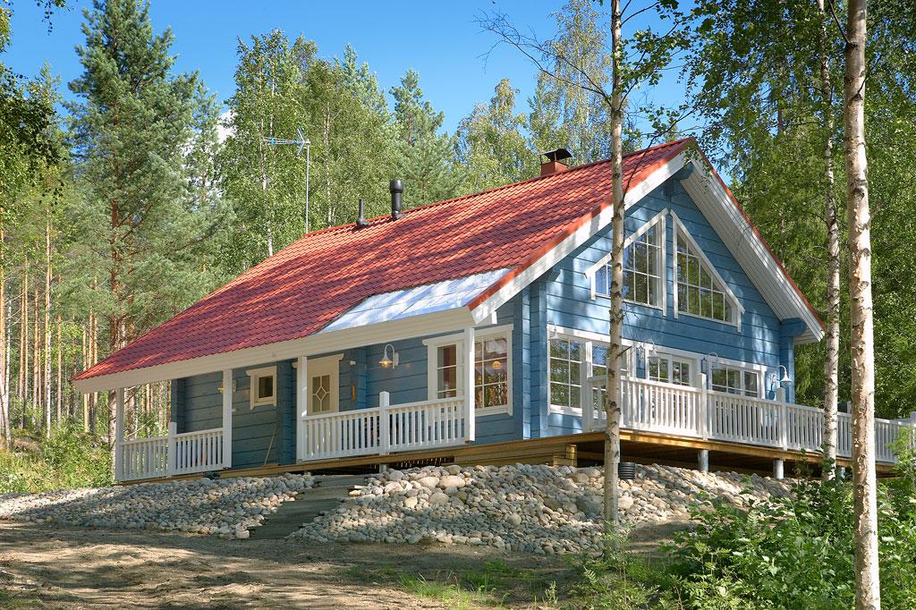 Вначале...  Финские дома из клееного бруса Finnlamelli.