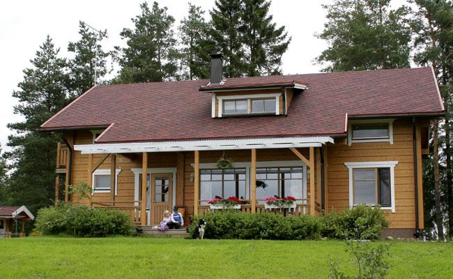 """Готовые дома под ключ.  Финские дома из клееного бруса.   """"Finnlamelli."""